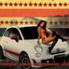 2éme Work Art sur un style rétro mélangeant effet vieu avec du neuf impliquant la nouvelle Fiat 500 Abarth une jolie voiture