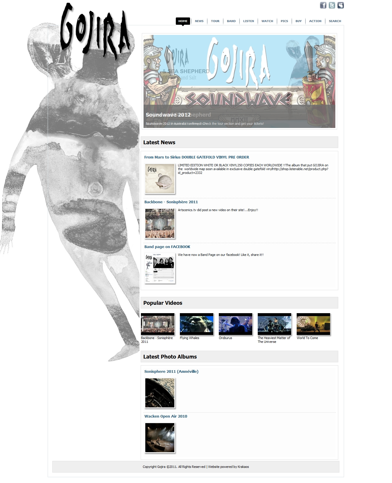gojira from mars to sirius cover - photo #26